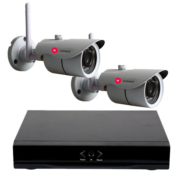 KIT Wonect 2 Camaras de seguridad IP Exterior W43 Grabador NVR