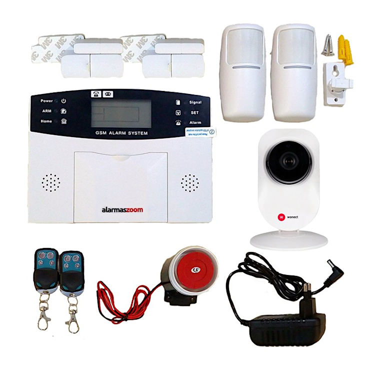 Kit Alarma para casa AZ028 GSM Con Camara de vigilancia Castellano sin cuotas para casa