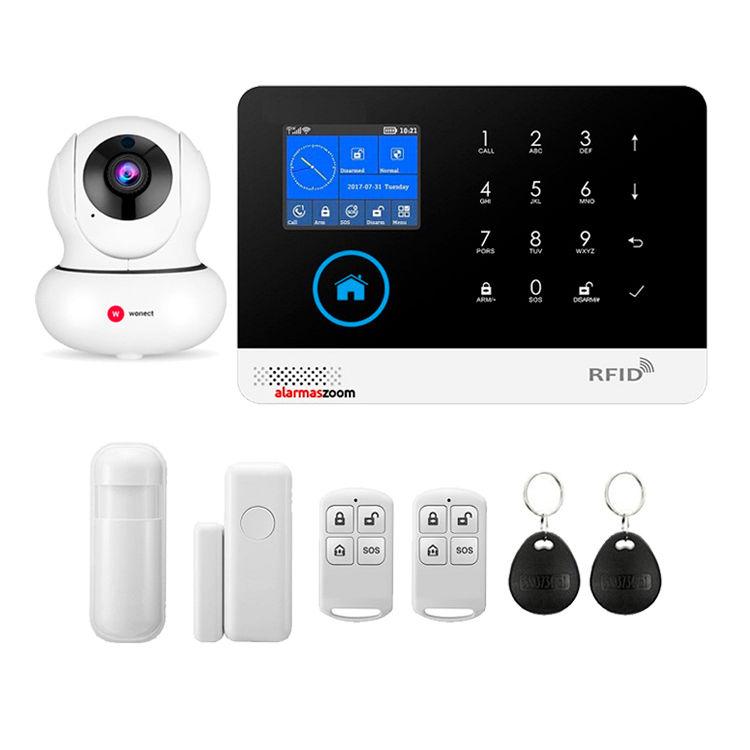 Alarma para casas WiFi GSM con Camara IP lector RFID AZ034