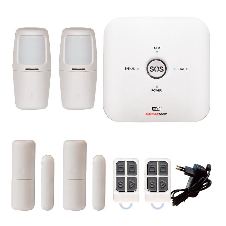 Kit alarma AZ038 WiFi GSM con 2 detectores movimiento interior