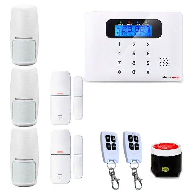 Alarma Hogar AZ021 GSM Teclado Castellano Sin Cuotas Control remoto 3 Detectores PIR