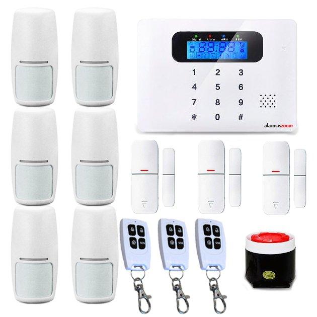 Alarma Hogar AZ021 GSM Teclado Castellano Sin Cuotas Control remoto 6 Detectores movimiento