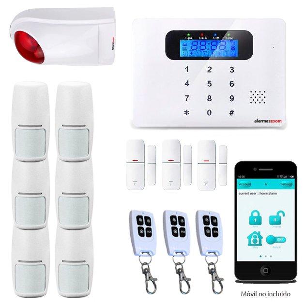 Alarma Hogar AZ021 GSM Teclado Castellano Sin Cuotas Control remoto Sirena exterior