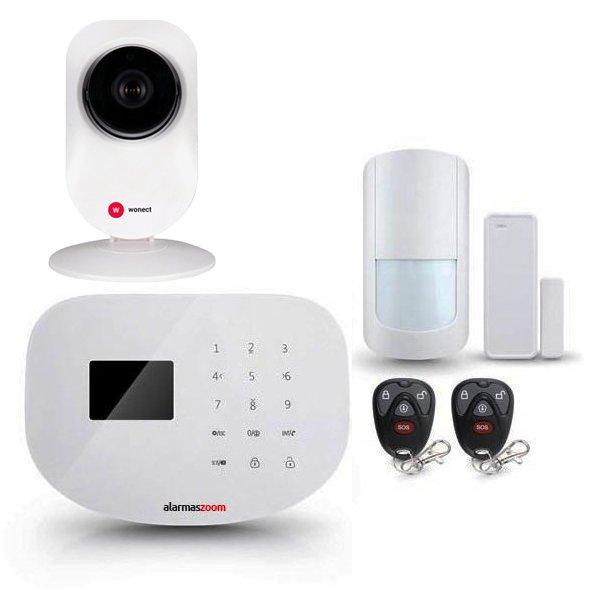 Alarma Hogar WiFi AZ020 Con Camara de seguridad IP Interior