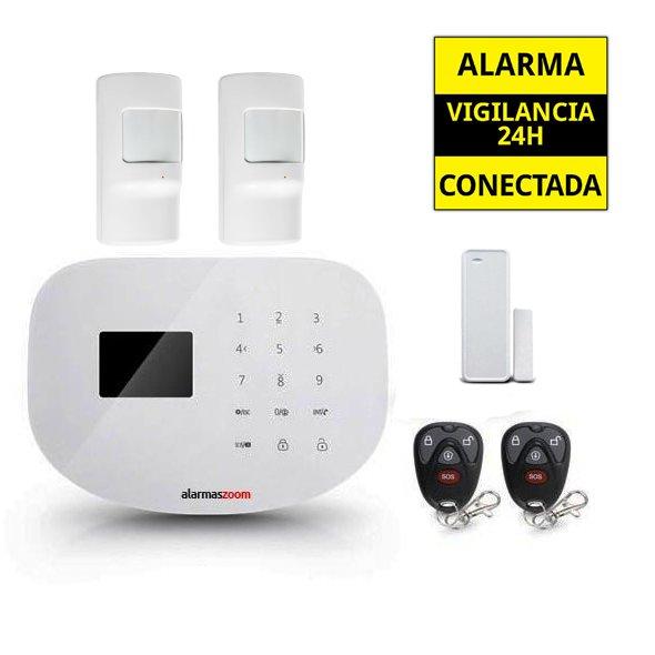 Alarma Hogar WiFi AZ020 2 Detectores de movimiento infrarrojos Sin Cuotas Aviso inmediato APP