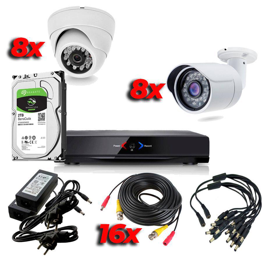 CCTV Grabador DVR AHDK057 Hasta 16 Camaras Exterior Interior HD 720p SATA 1Tb