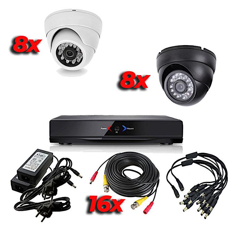 CCTV Grabador DVR AHDK058 Hasta 16 Camaras Interior Domo Techo HD 720p