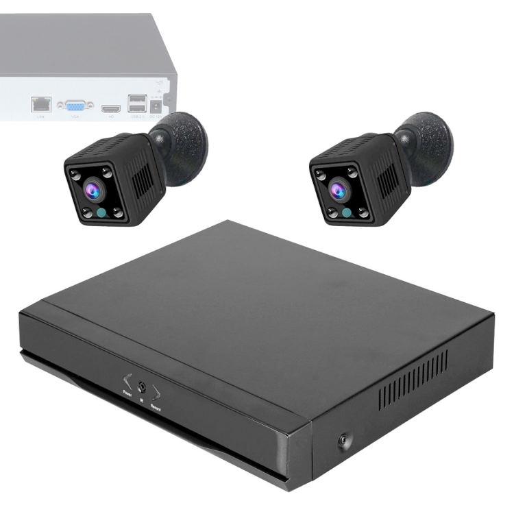 Wonect Kit Grabador NVR 2 Camaras Espia WiFi K10