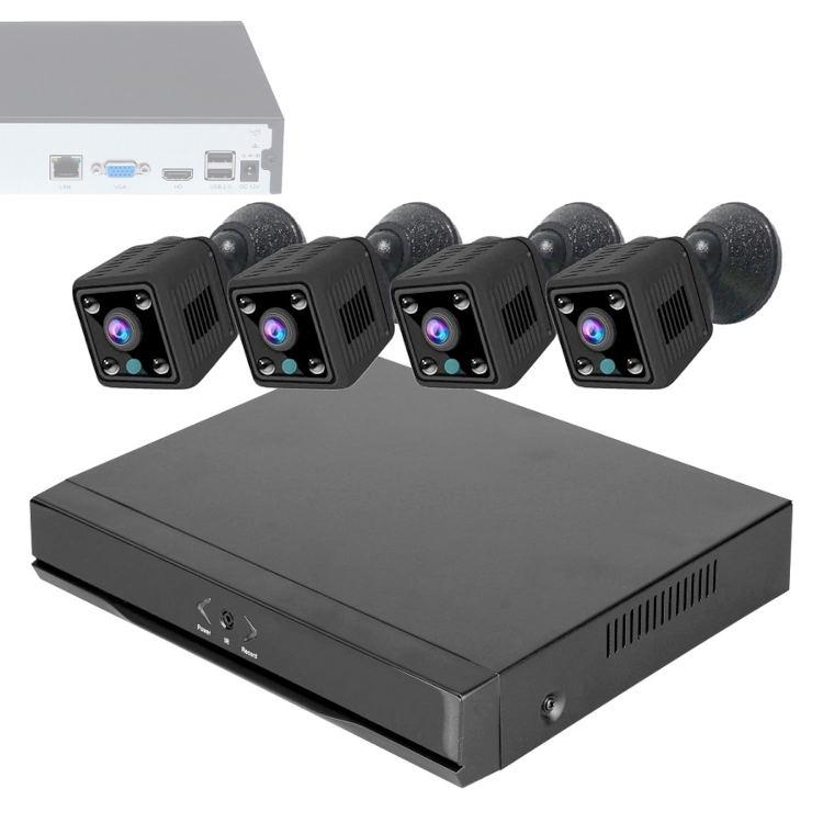Wonect Kit Grabador NVR 4 Camaras Espia WiFi K10
