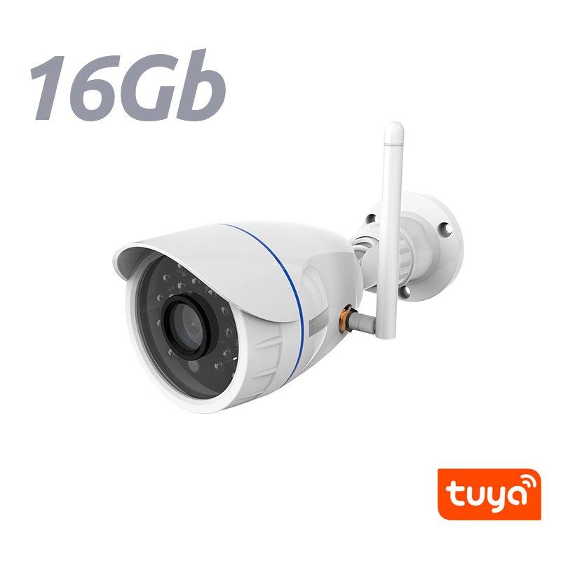 NeoCoolCam NIP 56AI Camara IP Exterior WiFi Fija HD 720p APP Tuya Smart Memoria 16Gb