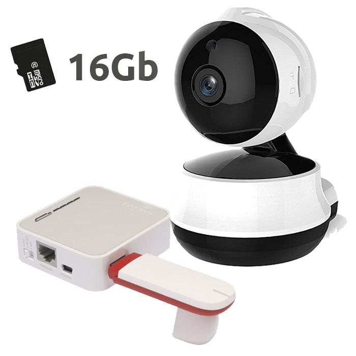 NEO COOLCAM CAMARA VIGILANCIA INTERIOR 16GB CON ROUTER 3G  Camara HD 720p IP NIP-61GE Neo CoolCam 16Gb con modem USB 3G y Router 3G para utilizar en cualquier lugar
