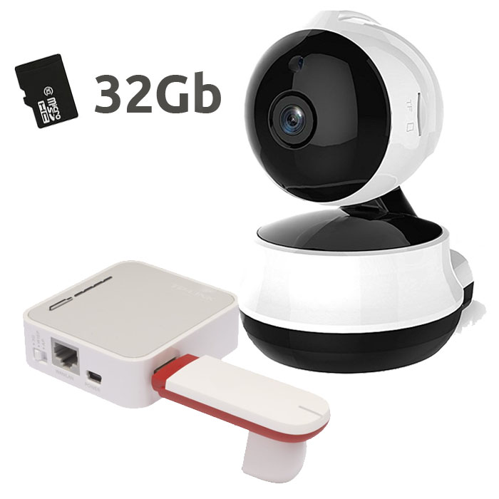 NeoCoolCam NIP 61GE Camara IP WiFi Interior Memoria 32Gb Router Modem USB 3G