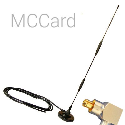 Antena Omni 3G 10dBi Interior con Soporte Conector MCCard