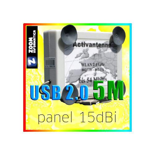 OTROS PANEL 15DBI  USB ACTIVO