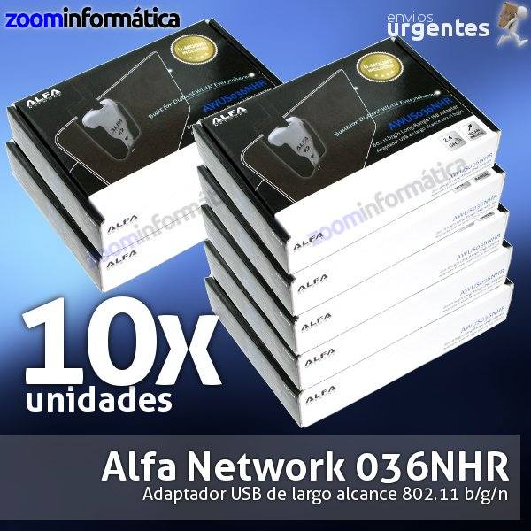 PACK DISTRIBUIDORES ALFA NETWORK 10X AWUS036NHR