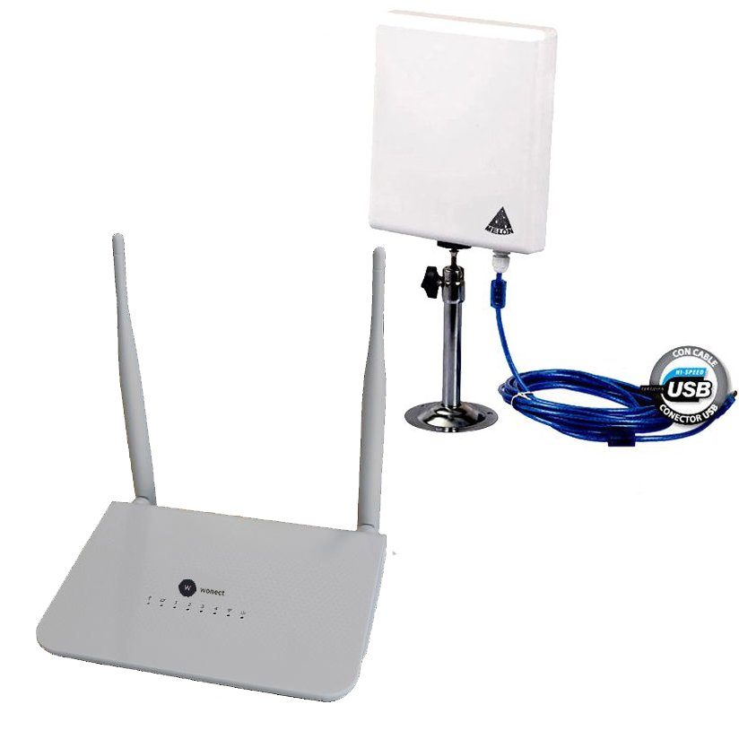 Router Wonect R658a Repetidor con antena WiFi USB Ralink N519 Ralink 3070