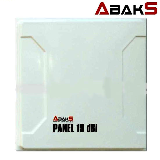 ANTENA Panel planar 19dbi conector N wifi ABAKS 19 dbi wireless largo alcance 19
