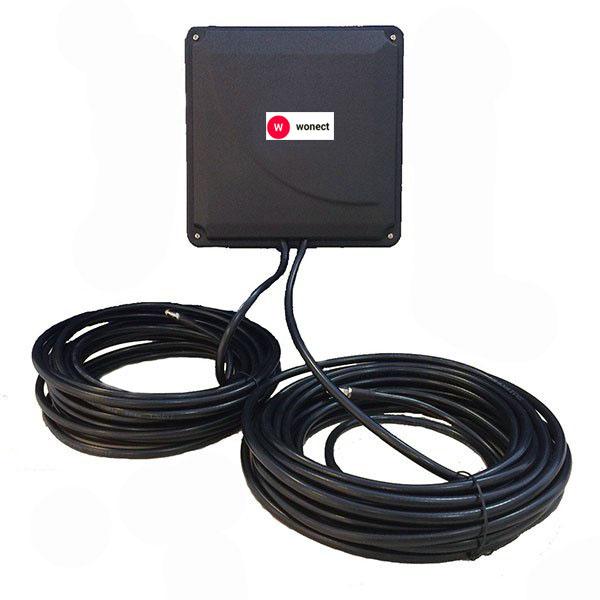 Antena 4G Wonect Panel 44dBi LTE Exterior Cable Integrado 10 metros Conectores FME