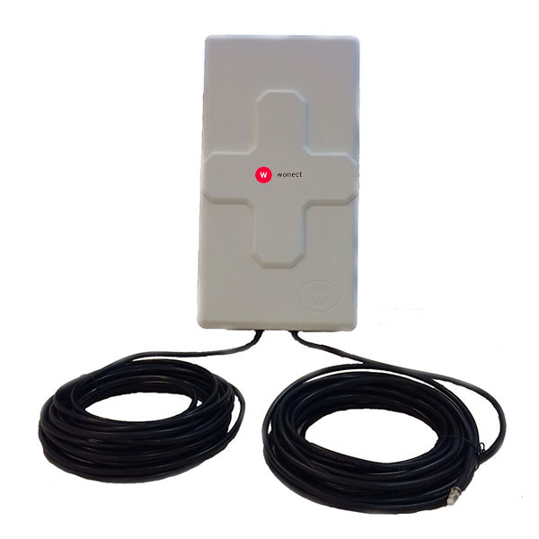 Wonect 4G 50DBI 10M FME B 4G 50dBi 10m FME B WONECT Antena 4G 50dbi LTE UMTS 3G exterior con 10 metros de cable FME  Blanca