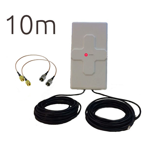 ANTENAS 4G OUTLET WONECT 4G 50DBI 10M FME SMA B R
