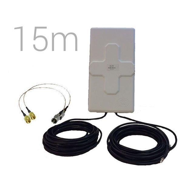 Antenas 4G Wonect 4G 50dBi 15m FME SMA B