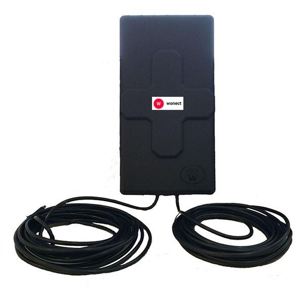 Wonect Panel 50dBi Antena WiFi exterior MIMO Cable RP SMA 10 metros