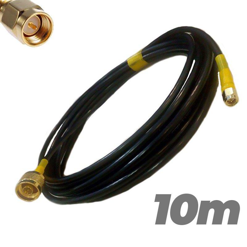 Cable Pigtail N Macho SMA Macho 10 metros Antenas 4G Baja perdida