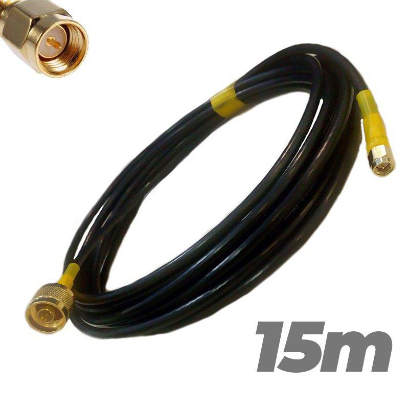 Cable Pigtail N Macho SMA Macho 15 metros Antenas 4G Baja perdida