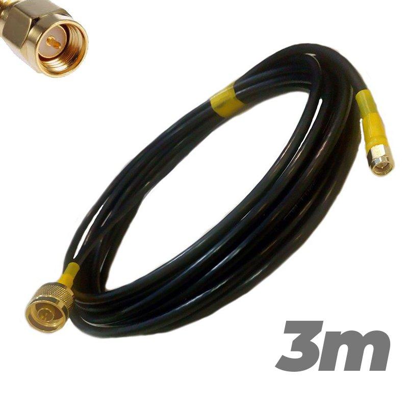 Cable Pigtail N Macho SMA Macho 3 metros Antenas 4G Baja perdida