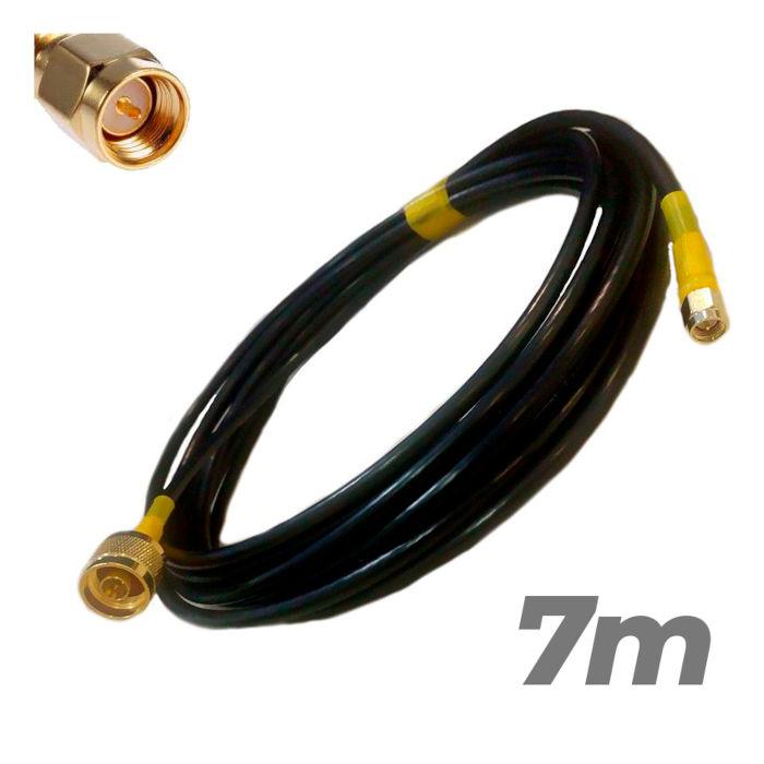 Cable Pigtail N Macho SMA Macho 7 metros Antenas 4G Baja perdida