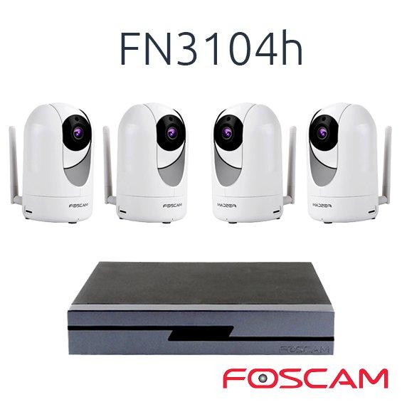 FOSCAM 4 FOSCAM R2  CON 1 NVR FN3104H