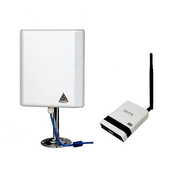 Kit WiFi Antena Melon N4000 10 metros Router repetidor ALFA R36