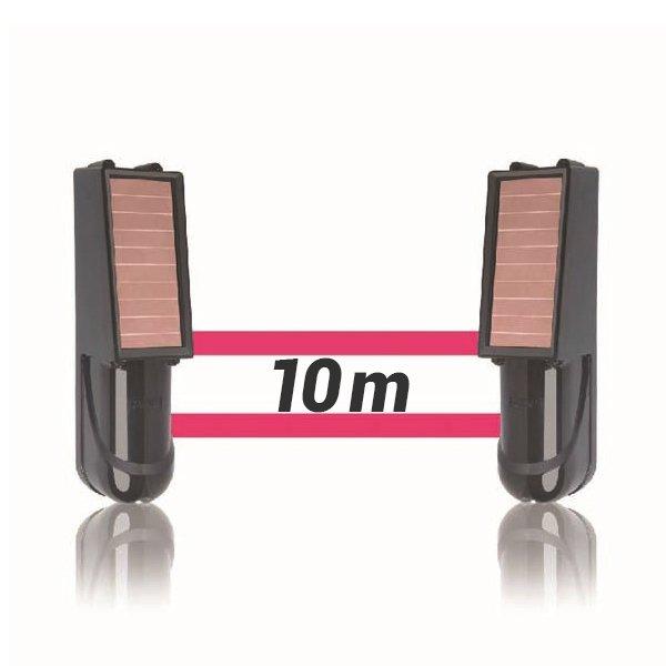 Alarma perimetral 10M foto electrica Placa Solar Baterias SIB010