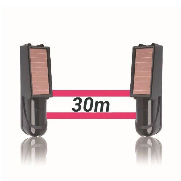 Alarma perimetral 30 metros foto electrica Placa Solar Baterias SIB030
