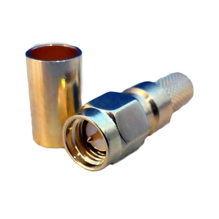 Conector SMA Macho Crimpable Antenas 4G Cable Coaxial H155PE LMR200