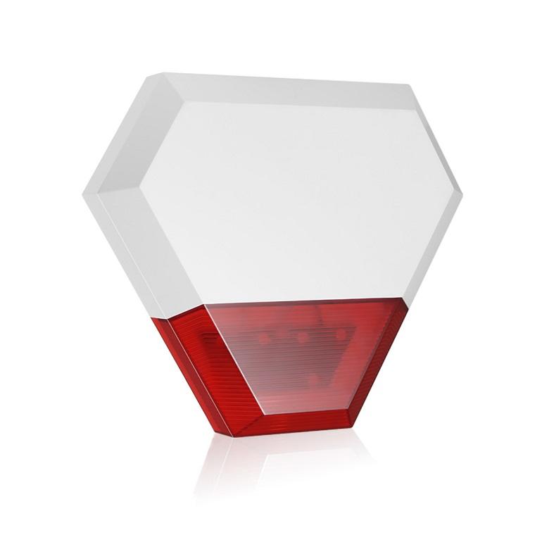 Sirena inalambrica exterior 115db roja alarmas FHSS 901