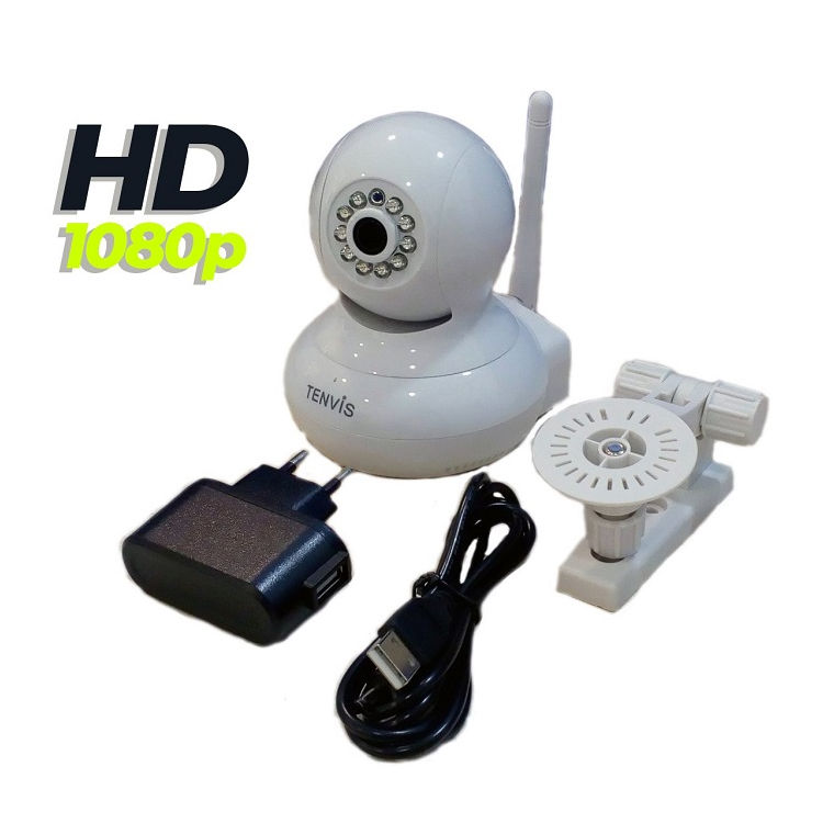 Tenvis T8818D W Camara IP WiFi videovigilancia Full HD 1080p Color Blanca