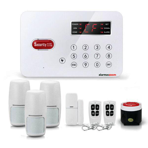 alarmas-zoom AZ030 TEL L1 1 Pack L1-1 Alarma de seguridad con pantalla de 50 zonas inalambricas con conexion telefono