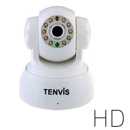 TENVIS 3815W HD W R Tenvis Reacondicionada Wireless WIFI Seguridad Internet IP Camara HD vision nocturna JPT3815w BLANCO