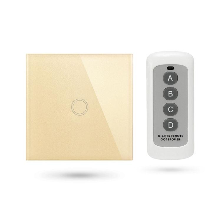 Interruptor mando distancia APP Pulsador 1 Contacto Dorado TSE1 G
