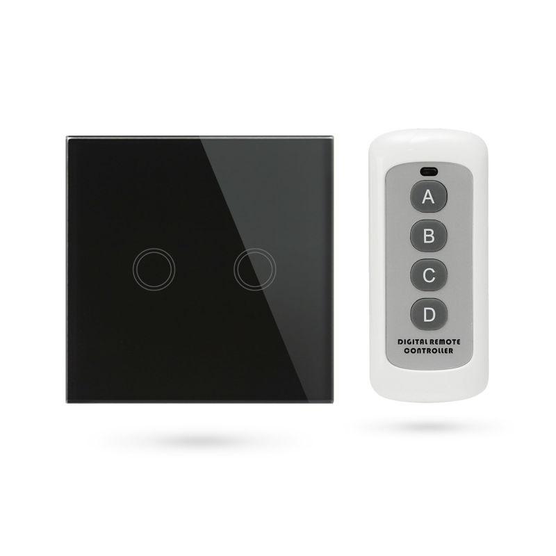Interruptor mando distancia APP Pulsador 2 Contactos Negro TSE2 B