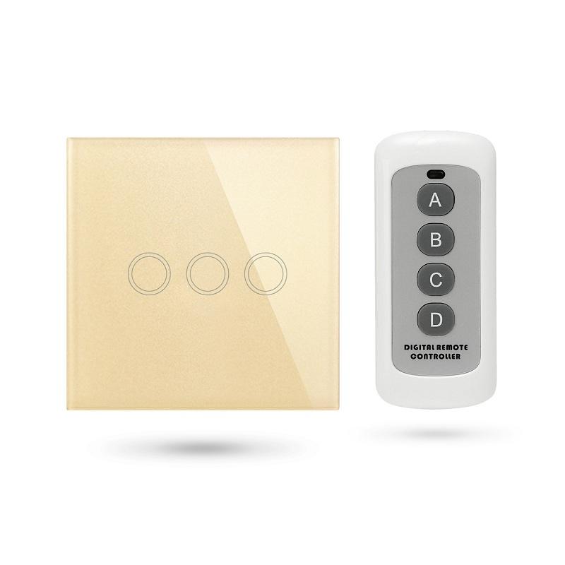 Interruptor mando distancia APP Pulsador 3 Contactos Dorado TSE3 G