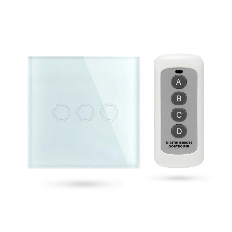 Interruptor mando distancia APP Pulsador 3 Contactos Blanco TSE3 W