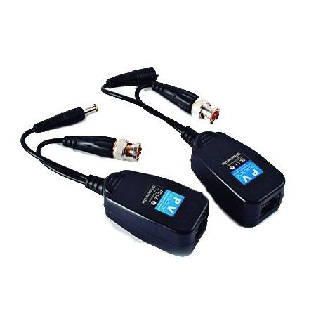 Adaptadores Video Balun Cable BNC RCA Alimentacion Camaras CCTV