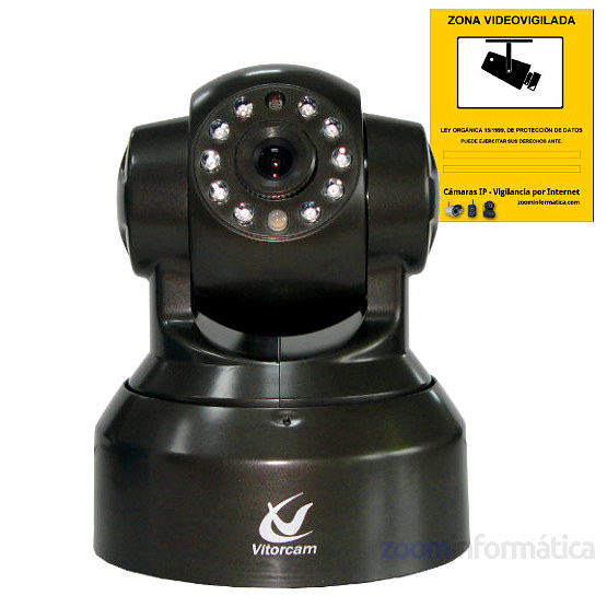 Vitorcam PT10W Camara IP videovigilancia memoria Micro SD Reacondicionada
