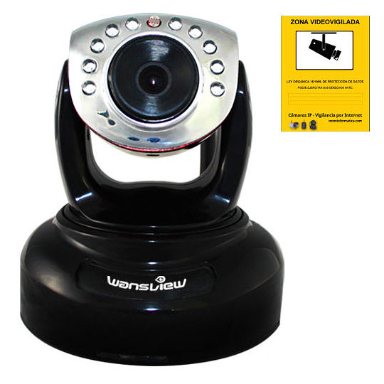 Wansview NCM625GB Camara IP WiFi HD Ranura Memoria Grabacion Deteccion movimiento