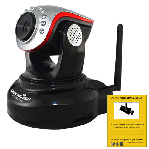 Wansview NCM625W Camara IP WiFi HD Ranura Memoria Grabacion Deteccion movimiento