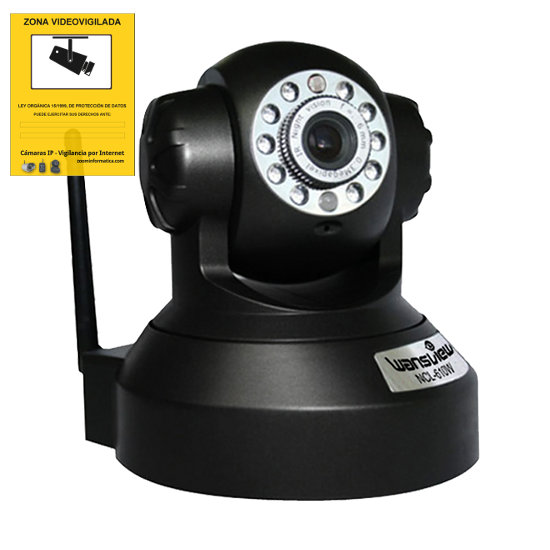 WANSVIEW NCL610WP-B WANSVIEW NCL-610WP NEGRO IP CAMARA WIFI MOTORIZADA VISION NOCTURNA VIDEO VIGILANCIA