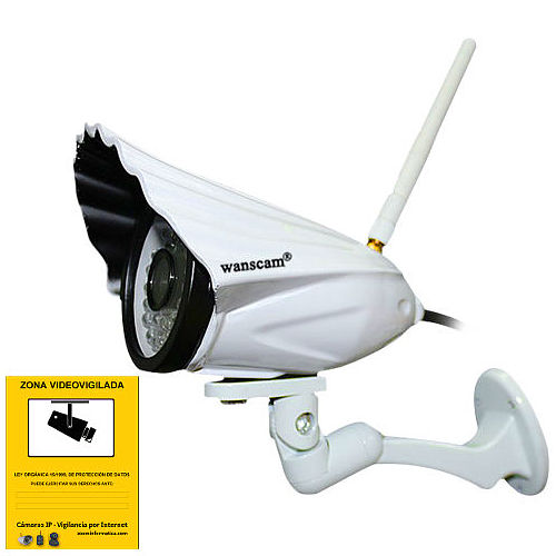 WANSCAM HW0034 WANSCAM CAMARA IP EXTERIOR HW0034 H.264 HD 720p VISION NOCTURNA ALTA RESOLUCION 6mm