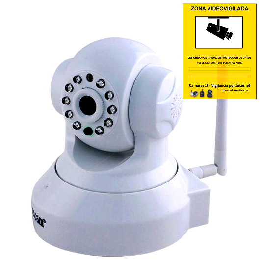 Wanscam JW0012 Camara IP Blanca WiFi P2P vigilancia desde movil Reacondicionada
